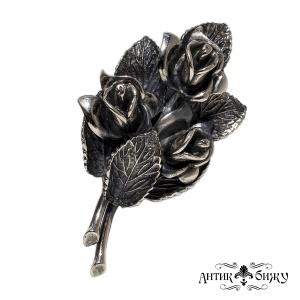 Винтажная редкая брошь «Букет роз» от Botticelli