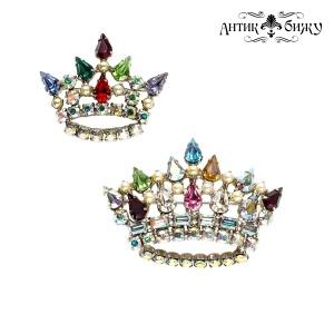 Винтажные броши «Короны» от B. David