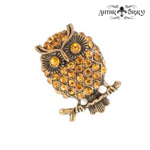 Винтажное кольцо «Совушка» от Monet