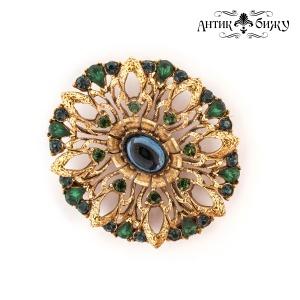 Винтажная брошь «Павлиний глаз» от Florenza